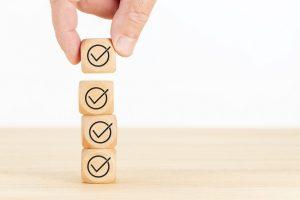 Tax filing checklist blocks